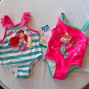 NWT mermaid infant girl one piece swimming suits